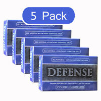 Defense Soap Bar 4 Oz (5 Pack) All Natural w/ Tea Tree Oil & Eucalyptus Oil