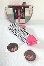 Roxy Quiksilver Scenic Route G Bag Purse Socks Black Pink Gray NEW