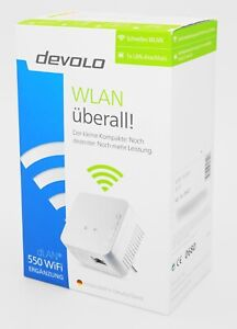 Devolo dlan 550 WiFi Ergänzung- Powerline Einzeladapter weiß - Neu & OVP