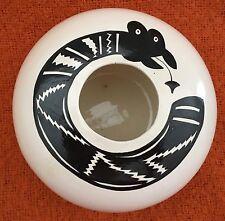 Hand-Thrown Southwestern Style Native American Acoma Inspired Pot Snake (Awanya)