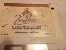 Original AOL 1.0 Floppy From 1989 America Online Macintosh Disk Diskette