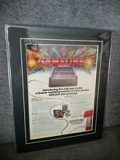 MATTED AD 1982 GAMELINE Master Module video game dial-up Atari 2600 Colecovision