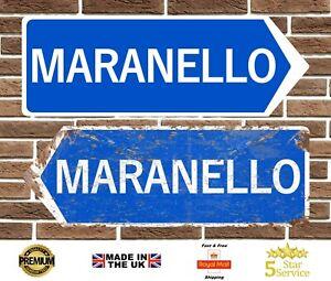 Maranello Metal Road Sign Wall Plaque Ferrari Italy Retro Garage Sign Man Cave