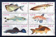 POISSON Brésil 6 val de 1988 ** FISH FISCH PESCE - PORT OFFERT