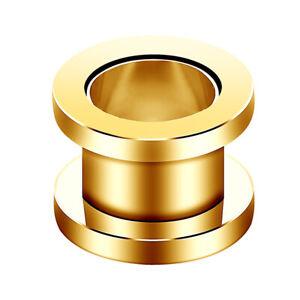 Top Stainless steel Ear Gauges Ear plugs Flesh Tunnel Ear Tunnels  Pair 3mm-25mm