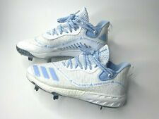 Adidas Icon Boost Iced Out Baseball Cleats White/Light Blue EF1243 Size 9.5 New