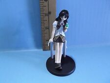 "#790 To Heart Anime 4""in Black Hair Girl Leaning on Rail Eating Ice Creme"