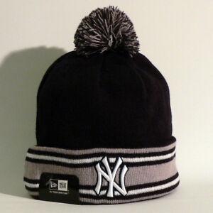 New York Yankees Beanie / Wollmütze - New Era - Baseball - MLB - Blau Grau - Neu