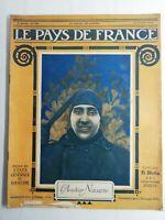 N83 Le Pays De France 3e Année N°106 / 26 octobre 1916 L'aviateur Navarre, Somme