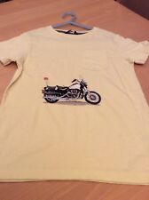 boys clothes 7-8 years George Yellow Cotton Embroidered Motorbike Top