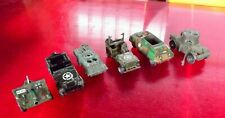 Lot de 6 Ancien Jouet Burago Solido Jeep blindé Char Vintage Canon old toy