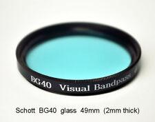 "Schott BG40 49mm x 2mm UV/IR Cut Filter Visual Bandpass IR Suppress ""Hot Mirror"""