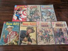 Charlton Dell DC (7) Western Comic LOT Cheyenne Kid Gene Autry Scalphunter