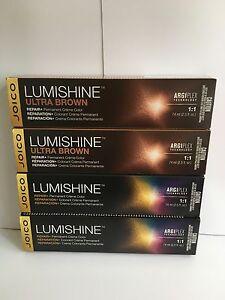 3 x Joico LUMISHINE REPAIR+ Permanent Creme Color 74ml