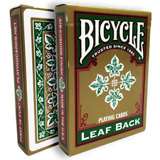Bicycle Leaf Back Deck (Green) Cards by Gambler's Warehouse from Murphy's Magic