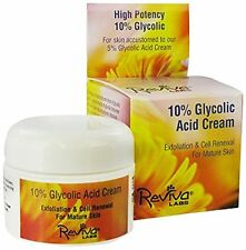 Reviva Labs 10% Glycolic Acid Cream -- 1.5 oz, New, Free Shipping