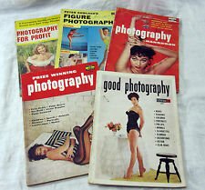 Photography Magazines Lot of 5 Vintage 1950s Pin-Ups Glamour Nude Posing Gowland