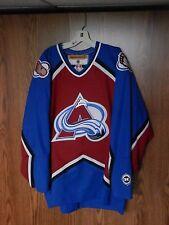 COLORADO AVALANCHE hockey jersey NHL size men's XL  KOHO VGC SEWN puck lot