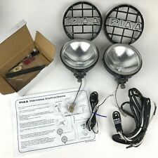 """PIAA 6"""" Off-road Xtreme White Round Driving Lights Complete Harness & Switch 520"""