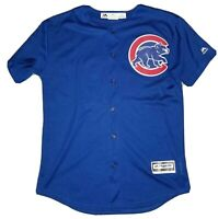 ANTHONY RIZZO #44 Chicago Cubs Youth Blue Alt Jersey Large L Majestic Large