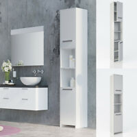 bathroom cabinet wood tall bathroom furniture shelf bathroom shelf 2 doors white
