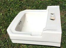 Vintage Antique White Porcelain Ceramic Bathroom Sink