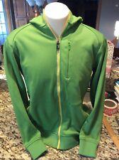 SIMS Green Jacket Hoodie Size Large Full Zip Sweatshirt Hoody. Free Shipping.