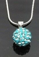 Shamballa Necklace Czech Crystal Disco Clay 10mm Ball 12 Colours Gift