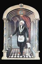 Print George Washington Master Masonic Chart Art Print poster ring Freemasons