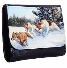 Fox Hunt Tri-Fold Wallet w/ Button Pocket