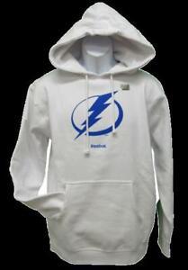 New Tampa Bay Lightning Mens Sizes S-M-L-XL-2XL White Reebok Hoodie