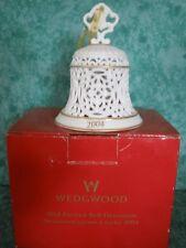 Wedgewood Pierced Bell Ornament~2004~Eggshell Bisque Porcelain~New~Iob