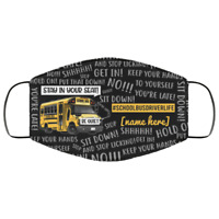 Cool School Bus Driver Life Meme Saying Gift Teacher Life Personalized Face Mask