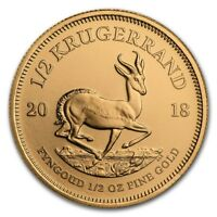 CH/GEM BU 1/2 oz. Gold South African Krugerrand Coin (Random Date)