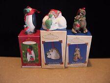 Lot of 3 2001 THRU 2003 HALLMARK CHRISTMAS Ornaments SAFE AND SNUG #1-2 & 3