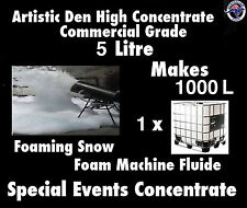 Snow Machine Fluid 5L/kg Pure Concentrate Makes 1000Litres Foam Machine Fluid
