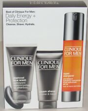 Clinique For Men Set Super Energizer 1.6 Charcoal Face Wash 1.7 Cream Shave 2