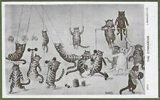 More details for scarce louis wain r. photo postcard. the cats' gymnasium, j. beagles & co 1907.