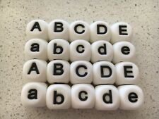 Silicone Bead Letters Pack - 10 x 15mm Name Alphabet DIY necklace Aus Seller