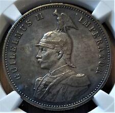 1890-J German East Africa 1 Rupie - Silver Coin - Wilhelm II - NGC AU 58
