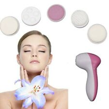 5 in 1 Electric Facial Cleaner Brush Deep Clean Skin Care Massager Exfoliator