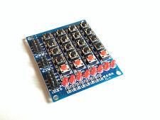 4x4 Matrix Tastatur Modul | 16 Mikrotaster | 4 extra Taster | 8 LEDs | Arduino25