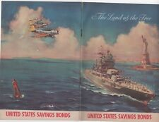 WWII home front, United States Savings Bonds The Land of the Free booklet 10 pgs