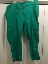 "Chico's Size 3 x 23"" Green Cotton Spandex Crop Pants"
