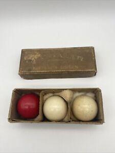 Vintage 'The Crystalate' Billiard Balls. Boxed.