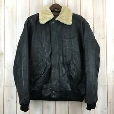 Vintage Pall Mall Leather Flying Flight Bomber Jacket Sheepskin Collar XL / XXL