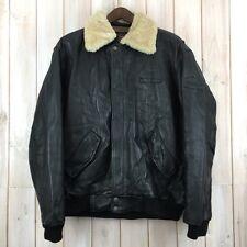 Vintage Pall Mall Leather Flying Flight Bomber Jacket Sheepskin Collar XL / XXL