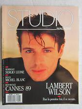 STUDIO magazine  N° 27  /Hommage Sergio Leone/ Lambert Wilson/Michel Blanc