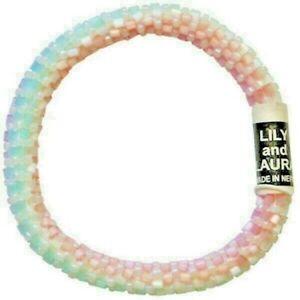 "LILY and LAURA ""Rainbow Beach"" Hand Crocheted Beaded Bracelet Nepal"