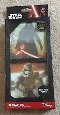 STAR WARS 3-D DRINKS COASTERS Set Lot of 8 The Force Awakens Ep 7 NEW Kylo Ren